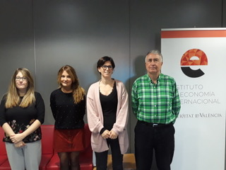 From left to right, Bàrbara Vázquez-Paja, María Soler, María Feo and Leandro García